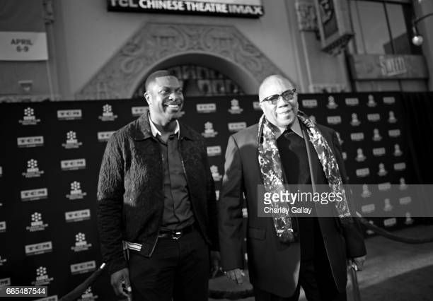Actor Chris Tucker and producer Quincy Jones attend the 50th anniversary screening of In the Heat of the Night during the 2017 TCM Classic Film...
