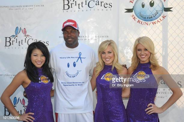 Actor Chris Tucker and the Laker Girls attend the 5th Annual Britticares Smile For Life 5K Run/Walk at Pacific Palisades High School on May 29 2010...
