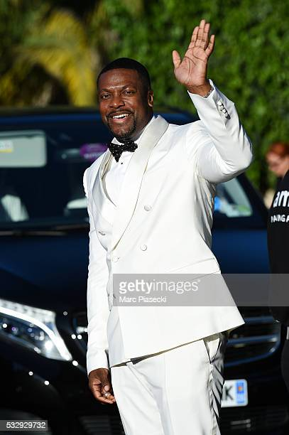 Actor Chris Tucker arrives to attend the 'AMFAR' dinner during the annual 69th Cannes Film Festival at 'Hotel du Cap' on May 19 2016 in Antibes France