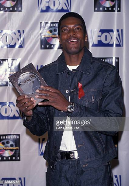 Actor Chris Tucker attends Fifth Annual Blockbuster Entertainment Awards on May 25 1995 at the Shrine Auditorium in Los Angeles California