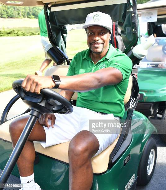 Actor Chris Tucker attends his Celebrity Golf Tournament at Stone Mountain Golf Club on August 24 2019 in Stone Mountain Georgia