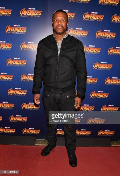 Actor Chris Tucker attends Marvel Studios' 'Avengers Infinity War' screening at The Fox Theatre on April 26 2018 in Atlanta Georgia