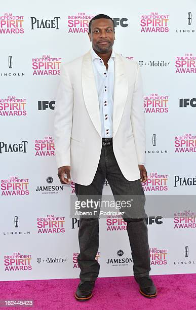 Actor Chris Tucker attends the 2013 Film Independent Spirit Awards at Santa Monica Beach on February 23 2013 in Santa Monica California