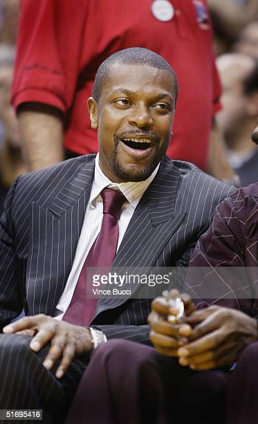 Actor Chris Tucker attends the game between the Los Angeles Lakers and the Atlanta Hawks at the Staples Center on Novemebr 7 2004 in Los Angeles...