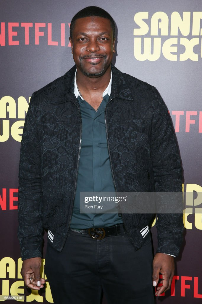 Actor Chris Tucker attends the premiere of Netflix's 'Sandy Wexler' at the ArcLight Cinemas Cinerama Dome on April 6, 2017 in Hollywood, California.