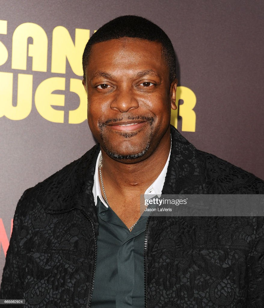 Actor Chris Tucker attends the premiere of 'Sandy Wexler' at ArcLight Cinemas Cinerama Dome on April 6, 2017 in Hollywood, California.