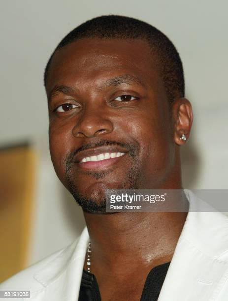 Actor Chris Tucker poses backstage at Live 8 Philadelphia at the Philadelphia Museum of Art July 2 2005 in Philadelphia Pennsylvania The free concert...