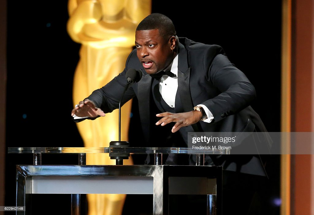 Actor Chris Tucker presents an award onstage during the Academy of Motion Picture Arts and Sciences' 8th annual Governors Awards at The Ray Dolby Ballroom at Hollywood & Highland Center on November 12, 2016 in Hollywood, California.