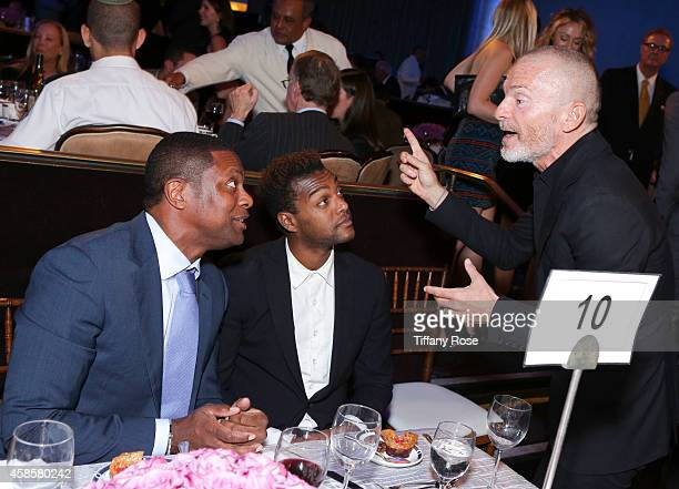 Actor Chris Tucker singer Austin Brown and Aviv Nevo attend the Friends Of The Israel Defense Forces 2014 Western Region Gala at The Beverly Hilton...