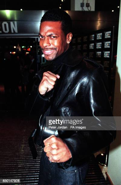 Actor Chris Tucker squares up at the premiere of the film 'Bulworth' in London's West End on the closing night of the London Film Festival