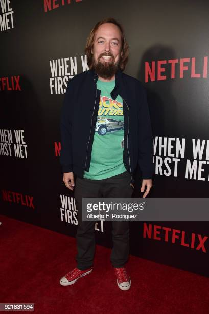 Actor Chris Wylde attends a special screening of Netflix's 'When We First Met' at ArcLight Hollywood on February 20 2018 in Hollywood California