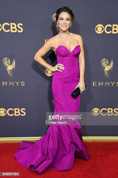 Actor Chrishell Stause attends the 69th Annual Primetime Emmy Awards at Microsoft Theater on September 17 2017 in Los Angeles California