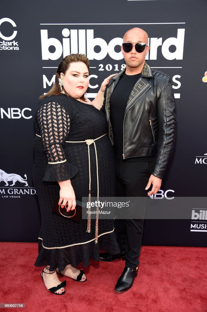 Actor Chrissy Metz (L) and guest attend the 2018 Billboard Music Awards at MGM Grand Garden Arena on May 20, 2018 in Las Vegas, Nevada.