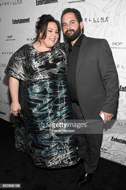 Actor Chrissy Metz and Josh Stancil attends the Entertainment Weekly Celebration of SAG Award Nominees sponsored by Maybelline New York at Chateau...