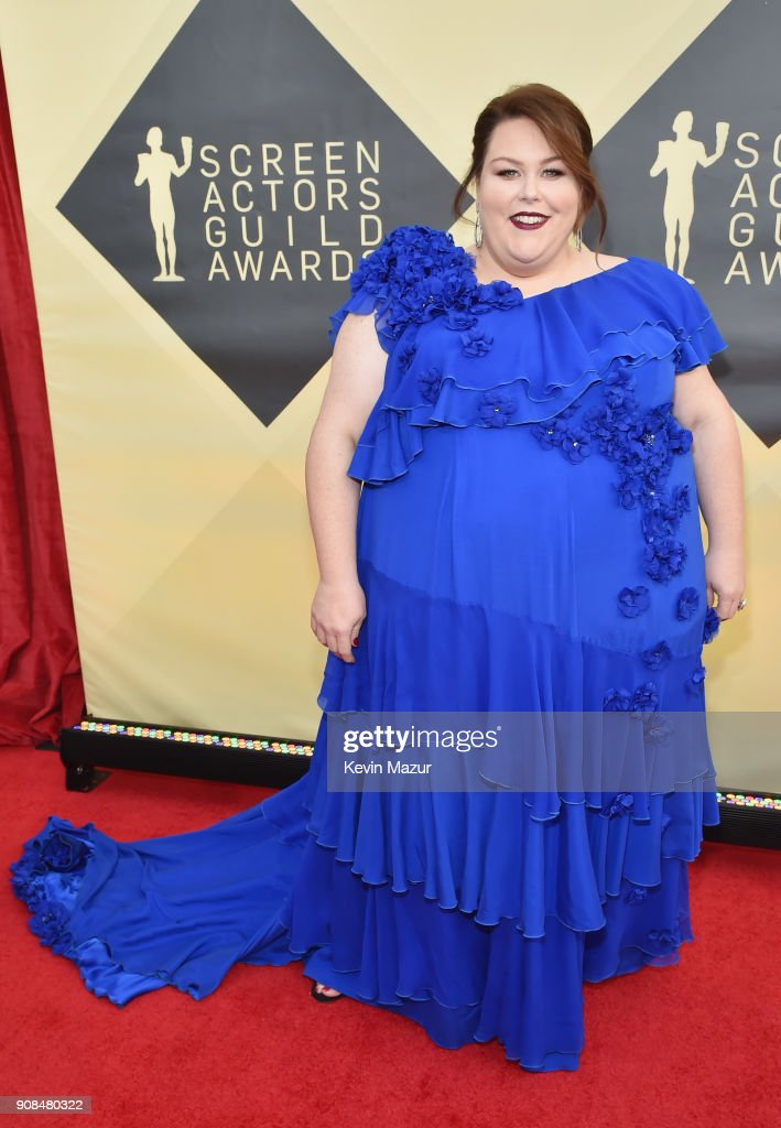 Actor Chrissy Metz attends the 24th Annual Screen Actors Guild Awards at The Shrine Auditorium on January 21, 2018 in Los Angeles, California. 27522_007