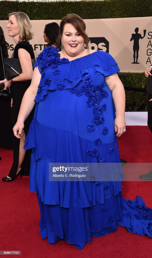Actor Chrissy Metz attends the 24th Annual Screen Actors Guild Awards at The Shrine Auditorium on January 21, 2018 in Los Angeles, California. 27522_006