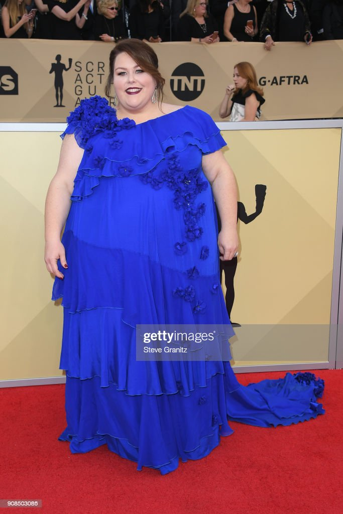 Actor Chrissy Metz attends the 24th Annual Screen ActorsGuild Awards at The Shrine Auditorium on January 21, 2018 in Los Angeles, California.