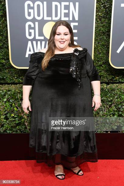 Actor Chrissy Metz attends The 75th Annual Golden Globe Awards at The Beverly Hilton Hotel on January 7 2018 in Beverly Hills California
