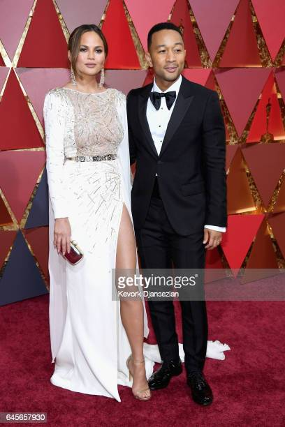 Actor Chrissy Teigen and Musician John Legend attend the 89th Annual Academy Awards at Hollywood Highland Center on February 26 2017 in Hollywood...