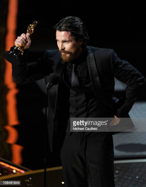 Actor Christian Bale accepts award onstage during the 83rd Annual Academy Awards held at the Kodak Theatre on February 27 2011 in Hollywood California