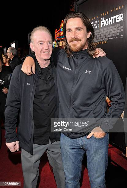 Actor Christian Bale and Dicky Eklund arrive at The Fighter Los Angeles premiere held at the Grauman's Chinese Theatre on December 6 2010 in...