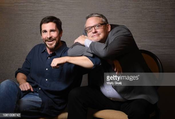 Actor Christian Bale and director Adam McKay are photographed for Los Angeles Times on November 27 2018 in Beverly Hills California PUBLISHED IMAGE...