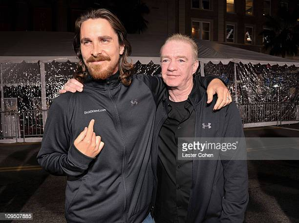 Actor Christian Bale and former boxer Dicky Eklund arrive at The Fighter Los Angeles premiere held at the Grauman's Chinese Theatre on December 6...