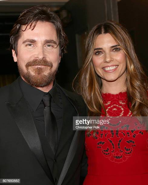 Actor Christian Bale and Sibi Bale attend The 22nd Annual Screen Actors Guild Awards at The Shrine Auditorium on January 30 2016 in Los Angeles...