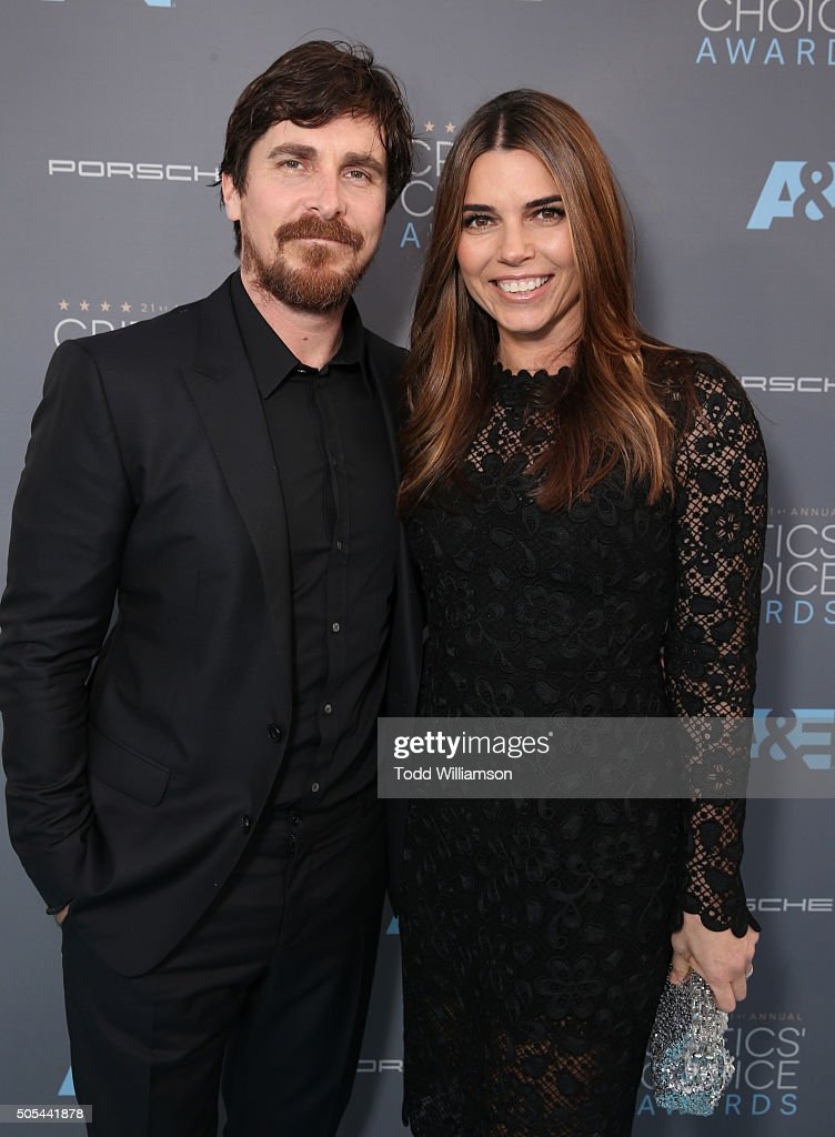 Actor Christian Bale (L) and Sibi Blazic attend the 21st Annual Critics' Choice Awards at Barker Hangar on January 17, 2016 in Santa Monica, California.