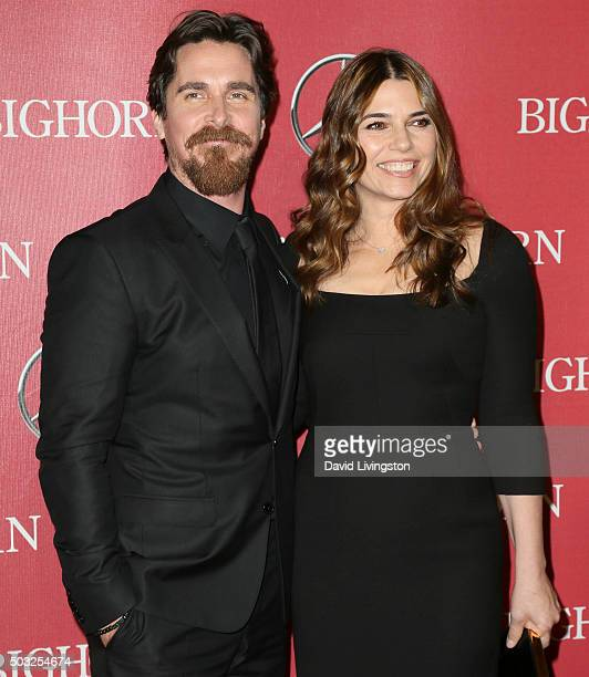 Actor Christian Bale and Sibi Blazic attend the 27th Annual Palm Springs International Film Festival Awards Gala at the Palm Springs Convention...