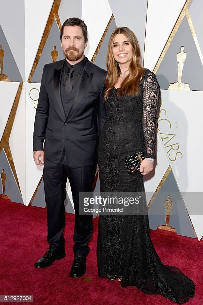 Actor Christian Bale and Sibi Blazic attend the 88th Annual Academy Awards at Hollywood Highland Center on February 28 2016 in Hollywood California