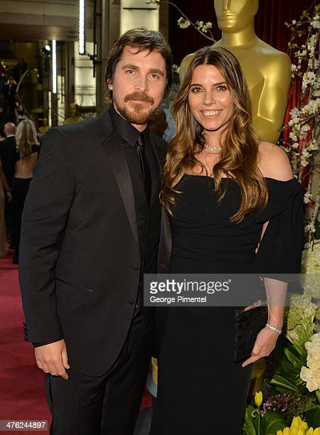 Actor Christian Bale and Sibi Blazic attend the Oscars held at Hollywood Highland Center on March 2 2014 in Hollywood California