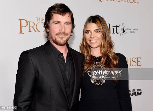 Actor Christian Bale and Sibi Blazic attend the premiere of Open Road Films' 'The Promise' at TCL Chinese Theatre on April 12 2017 in Hollywood...