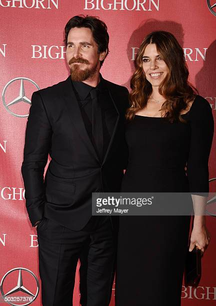 Actor Christian Bale and Sibi Blazic attendthe 27th Annual Palm Springs International Film Festival Awards Gala at Palm Springs Convention Center on...