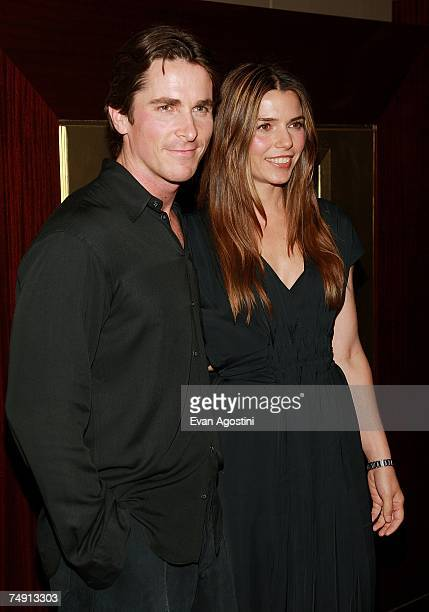 Actor Christian Bale and wife Sibi attend the premiere of 'Rescue Dawn' at the Dolby Screening Room June 25 2007 in New York City