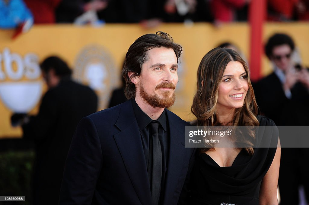 Actor Christian Bale and wife Sibi Bale arrive at the 17th Annual Screen Actors Guild Awards held at The Shrine Auditorium on January 30, 2011 in Los Angeles, California.