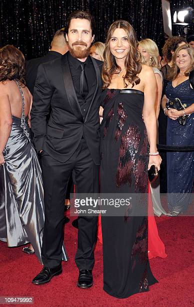 Actor Christian Bale and wife Sibi Bale arrive at the 83rd Annual Academy Awards held at the Kodak Theatre on February 27 2011 in Hollywood California