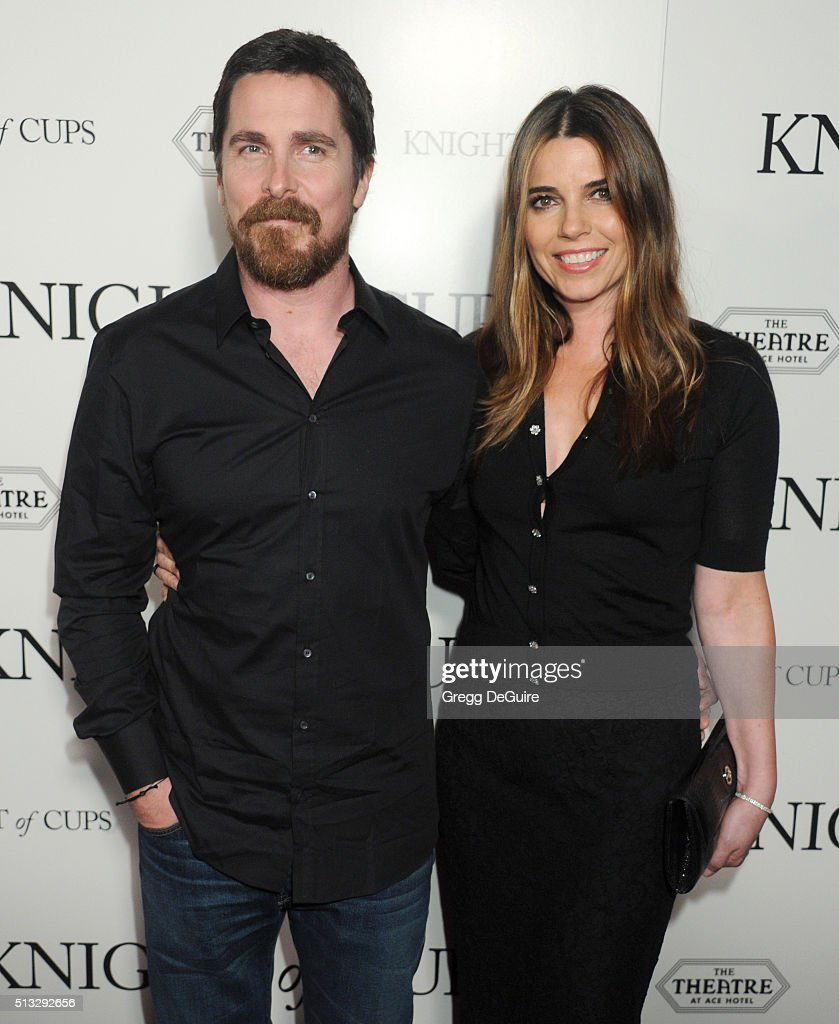 Actor Christian Bale and wife Sibi Blazic arrive at the premiere of Broad Green Pictures' 'Knight Of Cups' on March 1, 2016 in Los Angeles, California.