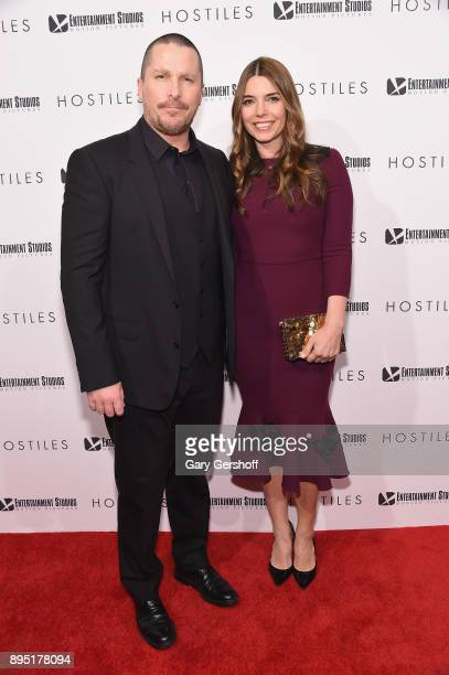 Actor Christian Bale and wife Sibi Blazic attend 'Hostiles' New York premiere at Metrograph on December 18 2017 in New York City
