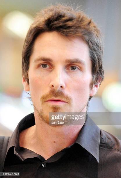 Actor Christian Bale arrives at Narita International Airport on June 3 2009 in Narita Chiba Japan