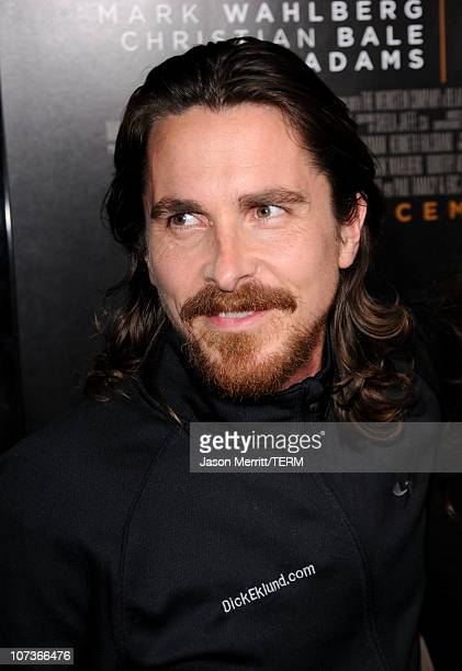 Actor Christian Bale arrives at Paramount Pictures' The Fighter premiere at Grauman's Chinese Theatre on December 6 2010 in Hollywood California