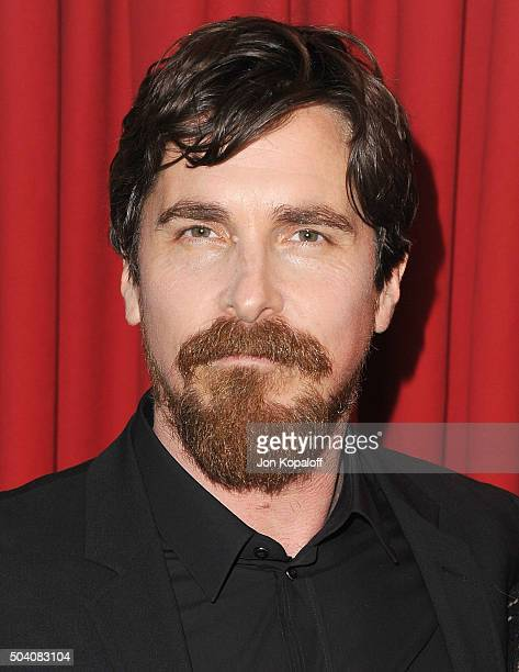 Actor Christian Bale arrives at the 16th Annual AFI Awards on January 8 2016 in Los Angeles California