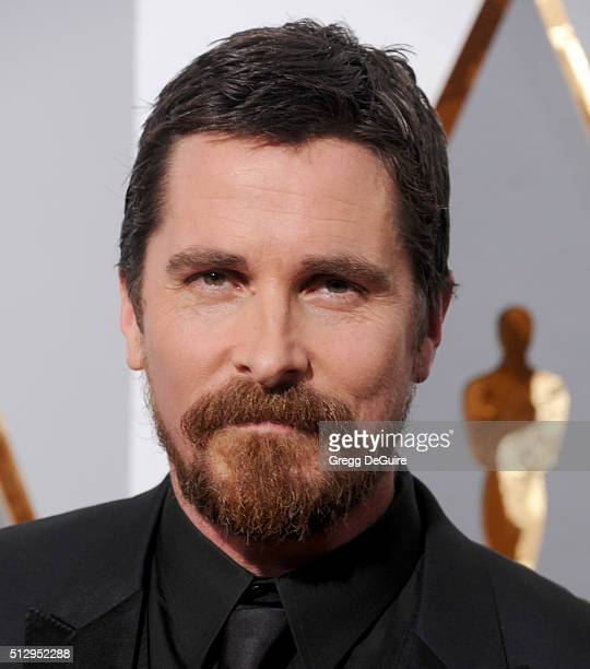 Actor Christian Bale arrives at the 88th Annual Academy Awards at Hollywood Highland Center on February 28 2016 in Hollywood California