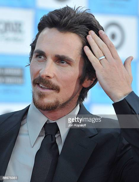 Actor Christian Bale arrives at the Los Angeles Premiere 'Public Enemies' at Mann Village Theatre on June 23 2009 in Westwood Los Angeles California