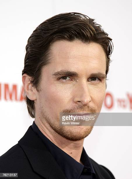 """Actor Christian Bale arrives at the premiere of Lionsgate's """"3:10 to Yuma"""" at the Mann National Theater on August 21, 2007 in Los Angeles, California."""