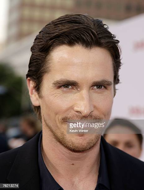 Actor Christian Bale arrives at the premiere of Lionsgate's '310 to Yuma' at the Mann National Theater on August 21 2007 in Los Angeles California