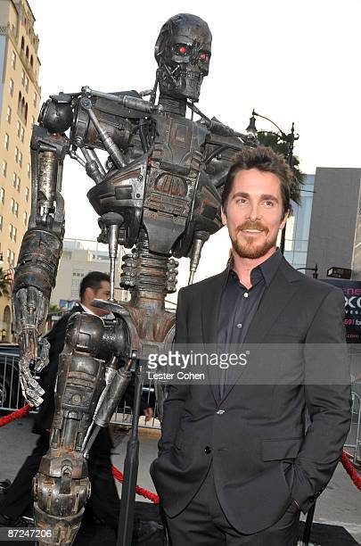 Actor Christian Bale arrives at the Premiere of Warner Bros 'Terminator Salvation' held at Grauman's Chinese Theatre on May 14 2009 in Hollywood...