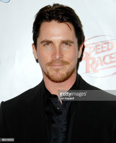 Actor Christian Bale arrives at the Warner Bros Big Picture 08 at ShoWest 2008 at The Paris Hotel and Casino on March 13 2008 in Las Vegas Nevada