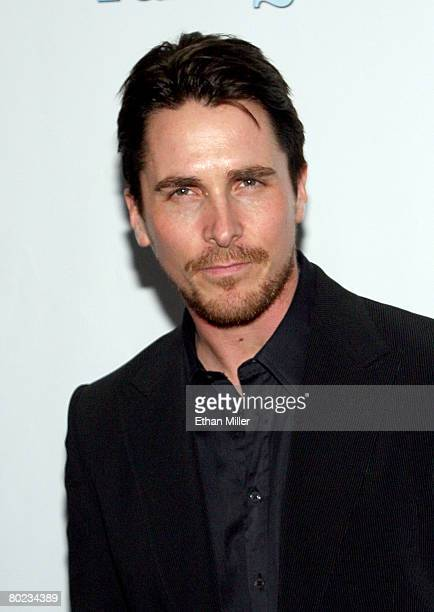 Actor Christian Bale arrives at Warner Bros Pictures presentation of The Big Picture '08 held at the Paris Las Vegas during ShoWest the official...
