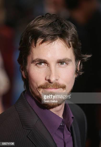 "Actor Christian Bale arrives for the German premiere of ""Batman Begins"" at the Cinestar June 15, 2005 in Berlin, Germany."
